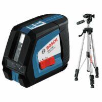 Bosch GLL2-50 BS150 Keresztszintező lézer állvánnyal