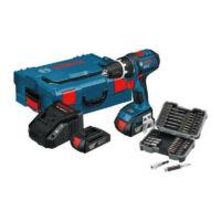 Bosch GSR 18V Li akkus fúró csavarozó + 2x1,5Ah + bitkészlet + L-BOXX (0615990FC8)