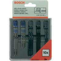Bosch Szúrófűrész lap készlet fa/fém fára, fémre, 10 részes