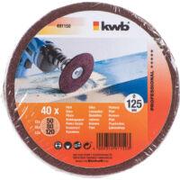 KWB Csiszolókorong készlet 40db 125mm (491150)