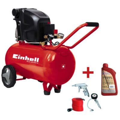 EINHELL TE-AC 270/50/10 Kompresszor 3R. Levegős Szett+Olaj