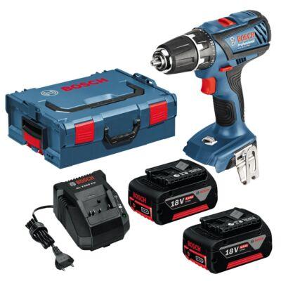 Bosch GSR 18 2 L Plus Akkus fúrókalapács 2x4,0 Ah