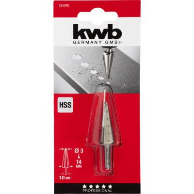 KWB profi hss kúpfúró 3-14 mm